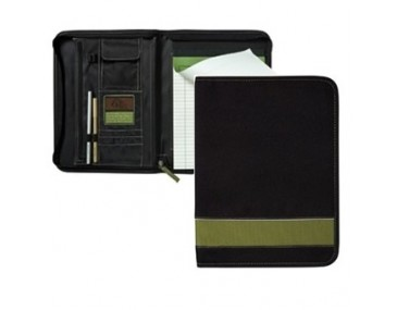 100% Recycled Zippered A4 Compendium