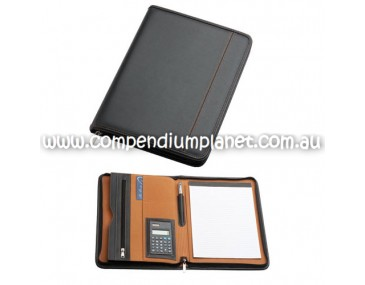 Leather Look Saffron A4 Compendium