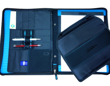 Zoom Premium Zippered Padfolio