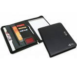 Metal Clip Branded Zippered Folios
