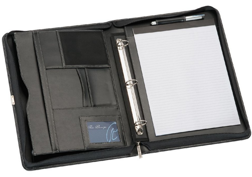 Inside Corporate Leather Binder A4 Compendium