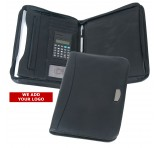 A4 Leather Look Promotional Zip Folios
