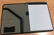 A4 Zippered Compendium Leather Look- Inside
