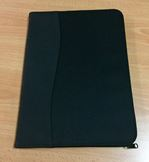 Marino A4 compendium Black Nylon and Leather look Spine